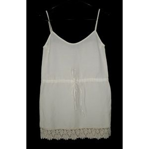 For Love & Lemons XS Linen Mini Dress Lace